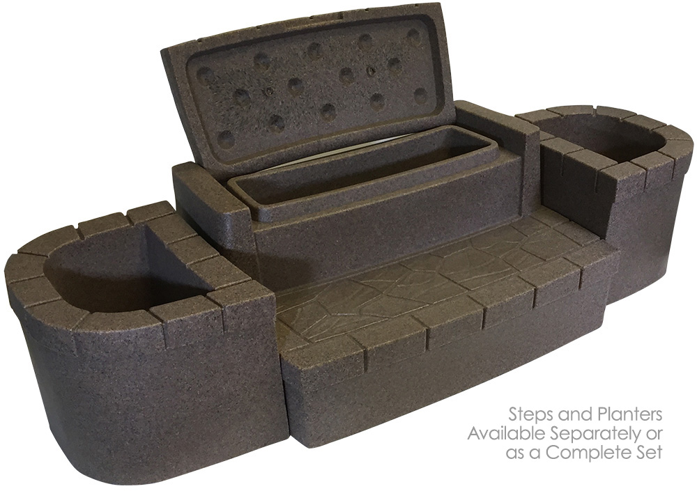 Elegant Deluxe Storage Steps Brownstone (Temporarily Out Of Stock)   Dream Maker  Spas